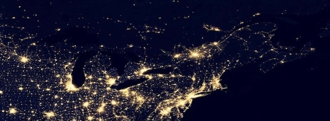 Maine at Night NASA - Pics about space