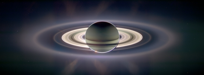 Saturn Eclipse of the Sun, Earth in rings. (Credit: NASA, Cassini Mission)