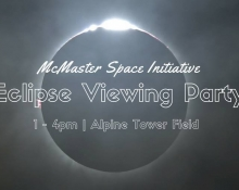 McMaster Space Initiative: Eclipse Viewing Party
