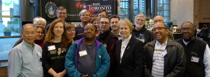 RASC members with astronaut Roberta Bondar