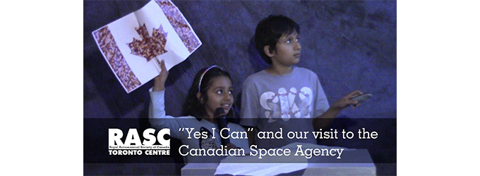 """""""Drop the Drought"""", """"Yes I Can"""" and Canadian Space Agency Visit"""