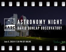 Astronomy Night at the DDO
