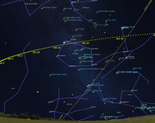 The Path of Comet 46P/Wirtane through January 30, 2019