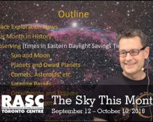 The Sky This Month September 12 - October 10, 2018